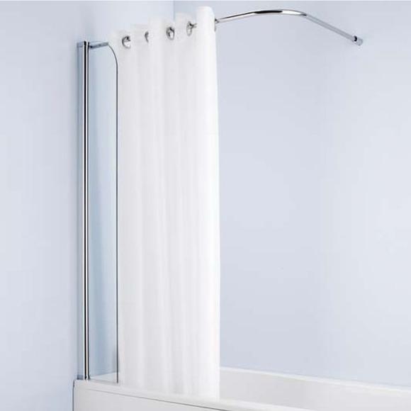 ideal standard connect l8406aa bath accessory atlas shower curtain bath screen bathstore bathroom