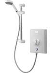 Aqualisa QZE9521 Quartz Electric Shower 9.5kw with Adjustable Height Head White Chrome