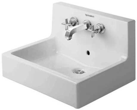 Duravit Vero Wall Mounted Sink : Duravit Vero 045360 Basin 600 3 Tap Holes Comes With Back Panel White