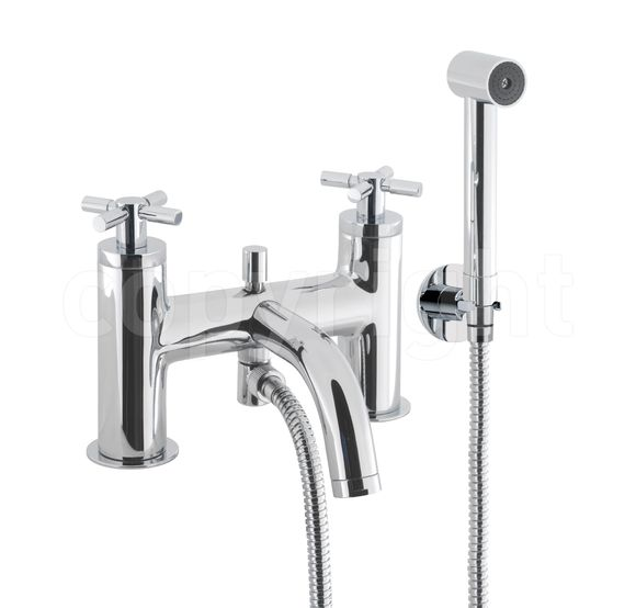 Crosswater Totti TO422DC Bath shower mixer with kit deck mounted LP