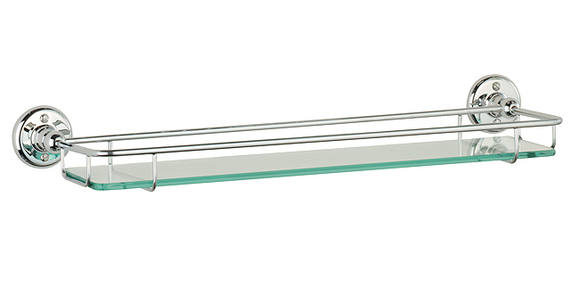 Roper Rhodes Avening 4912.02 Toughened Clear Glass Gallery Shelf 470mm(W) Chrome