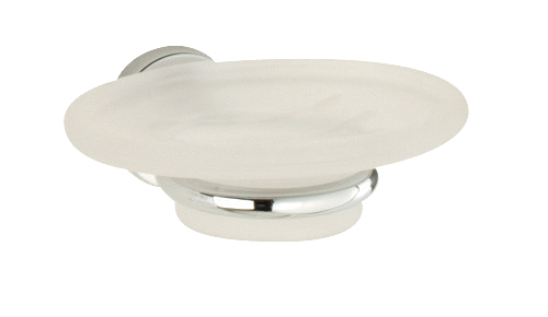 Roper Rhodes Minima 6914.02 Frosted Glass Soap Dish And Holder Chrome