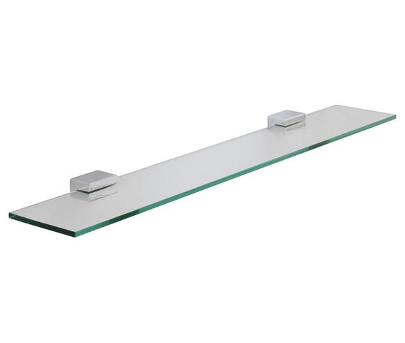 Roper Rhodes Horizon 7812.02 Toughened Clear Glass Shelf 600mm(W) Chrome