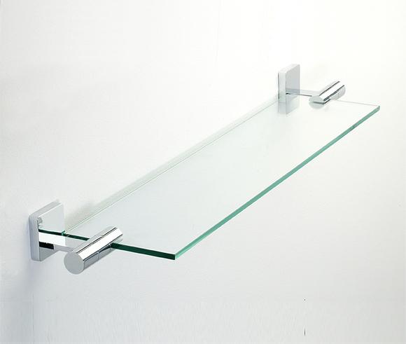 Roper Rhodes Glide 9512.02 Toughened Clear Glass Shelf 650mm(W) Chrome