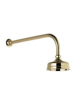"""Aqualisa 550.04 Aquatique 5"""" Drench Shower Head Gold"""