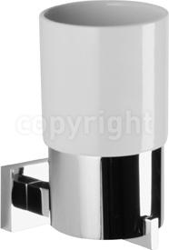 Crosswater Zeya ZE003C Tumbler holder ceramic, single.
