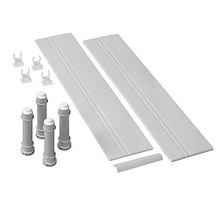 Mira Flight 1.1783.100 900 Square Riser Conversion Kit White
