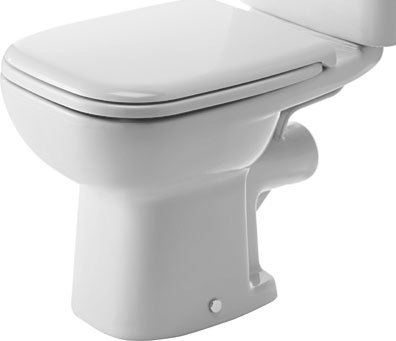 Duravit D-Code 211109 Close Coupled Horizontal Outlet WC Pan Only White