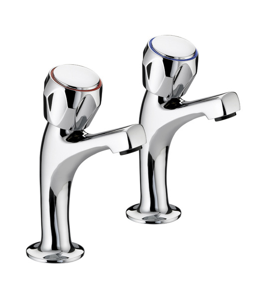 Bristan VALUE CLUB VACHNKCMT Club High Neck Sink Pillars 1/2In Pair Chrome