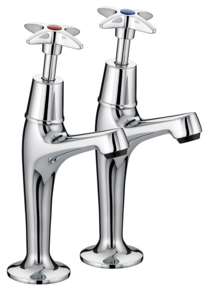 Bristan VALUE CROSSTOP VAXHNKC High Neck Sink Chrome