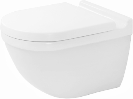 Duravit Starck 3 222509 Wall Hung Pan With Invisible Fixings White