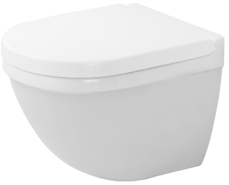 Duravit Starck 3 222709 Compact Wall Hung Pan With Invisible Fixings White