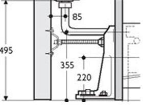Ideal Standard E0060 Support frame 25-115mm