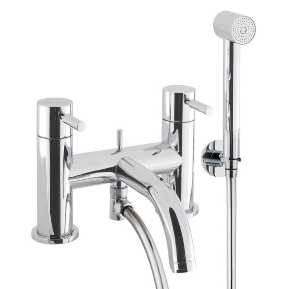 Crosswater Design DE422DC Bath shower mixer with kit deck mounted LP