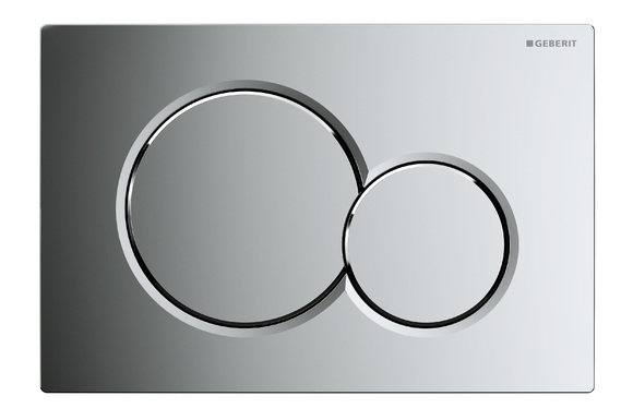 Geberit Sigma01 115.770.21.5 Dual Flush Plate Gloss Chrome