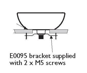 Ideal Standard White E009567 Silver Fixing Bracket For Vessel Basin Self Colour