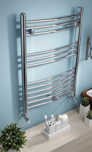 Kartell Curved 22 Towel Rail 400 x 1600 White