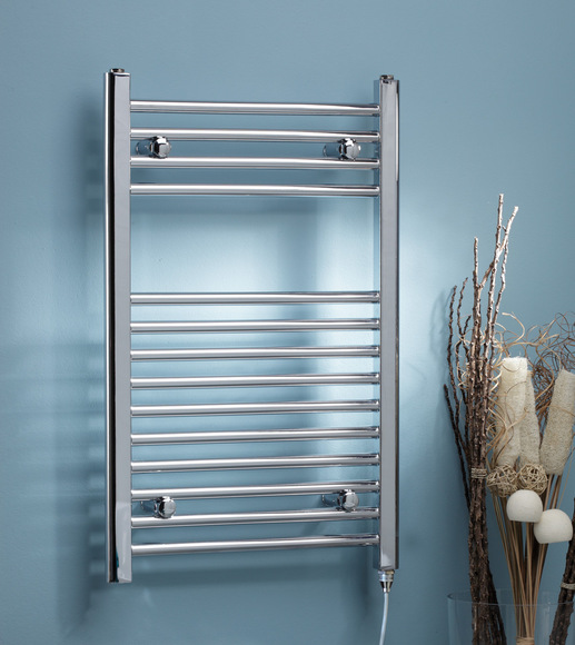 Kartell Curved Electric Towel Rail 500 x 800 Chrome
