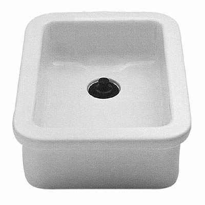 Twyford FC1414WH Lab Sink 390 X 255 No Overflow White
