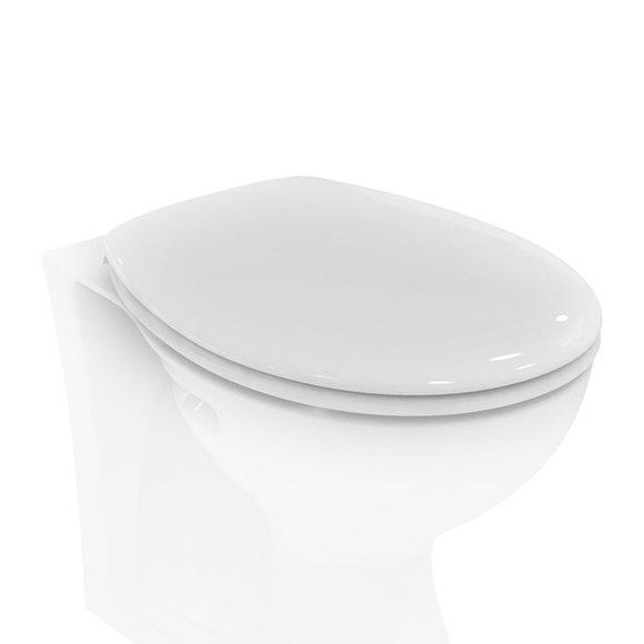 Armitage Shanks E907601 Sandringham 21 Toilet Seat with Plastic Hinges