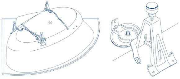 Kaldewei 5037 Adjustable Steel Bath Feet Set