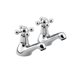 Bristan Regency R 3/4 C  Pair Bath Pillar Taps Chrome