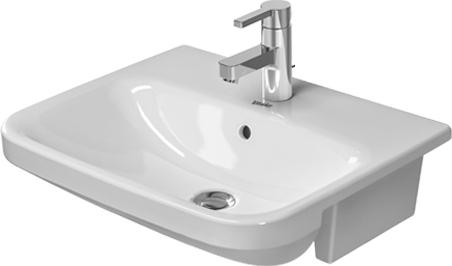 Duravit Durastyle 0375550000 550 Semi Countertop Basin 1 Tap Hole White