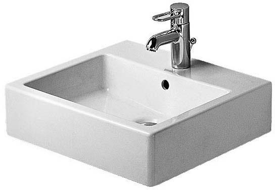 Duravit Vero 0454500000 500 Countertop Basin 1 Tap Hole Unground Waste White