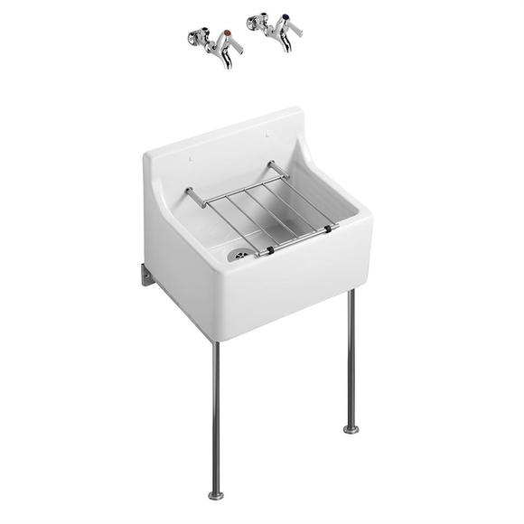 Armitage Shanks S047501 Birch 455mm Sink, Pad & Grating Pack
