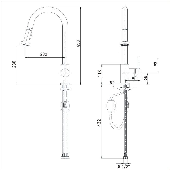 Bristan | Apricot | APR PULLSNK C | Kitchen Sink Mixers | TD