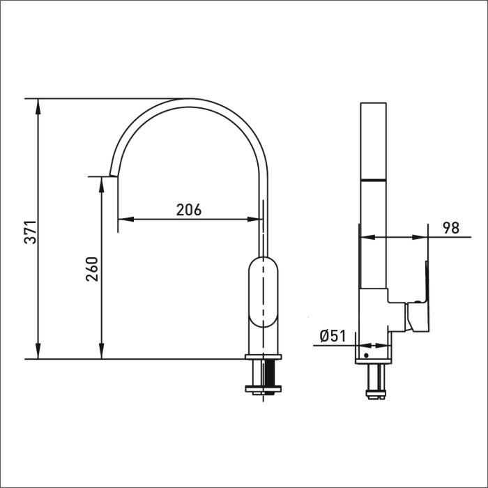 Bristan | Cherry | CHR EFSNK BN | Kitchen Sink Mixers | TD