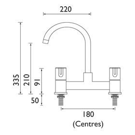 Bristan | Design Utility Lever | DULDSMC | Deck Sink Mixer | TD