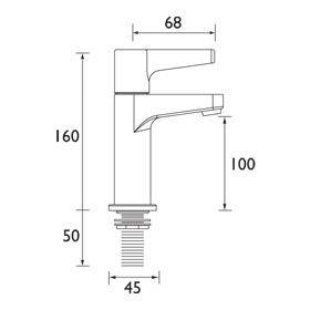 Bristan | Design Utility Lever | DULHNKC | Kitchen Taps | TD
