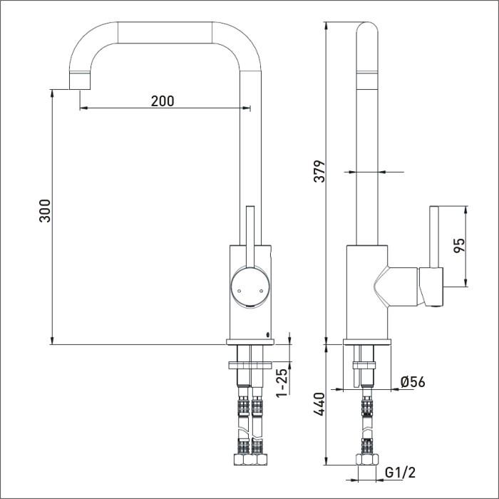 Bristan | Lemon | LMN EFSNK BN | Kitchen Sink Mixers | TD