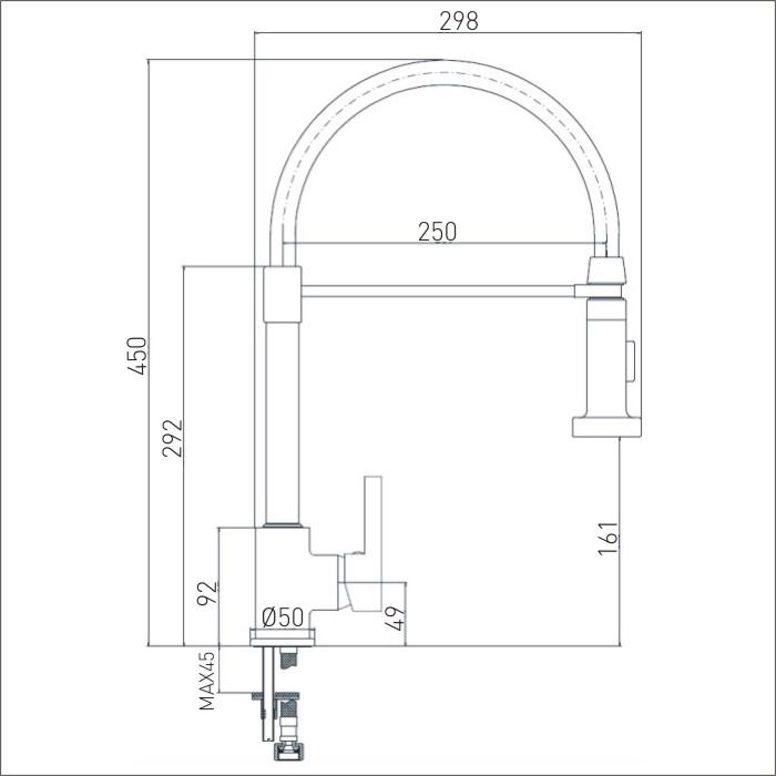 Bristan | Liquorice | LQR PROSNK C | Kitchen Sink Mixers | TD