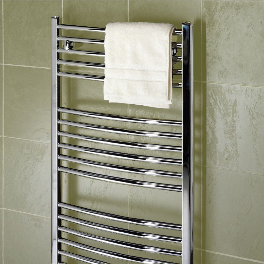 Curved and straight towel rails