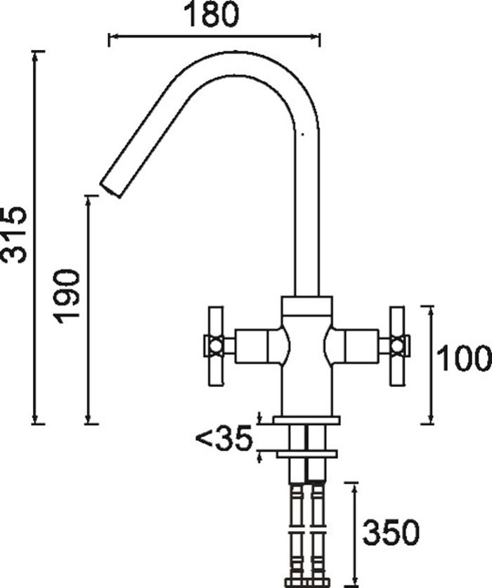 Bristan | Pecan | PCN EFSNK C | Kitchen Sink Mixers | TD