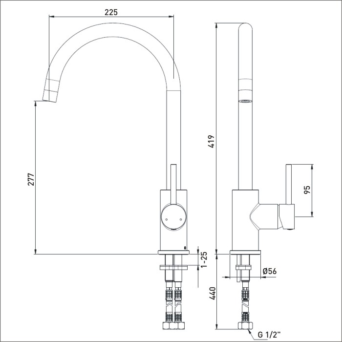 Bristan   Pistachio   PST EFSNK BN   Kitchen Sink Mixers   TD