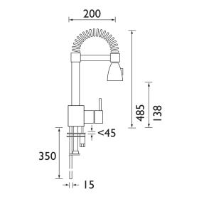 Bristan | Target | TG SNK C | Kitchen Sink Mixer | TD