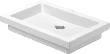 Duravit Bagnella 0451400000 400x400 No Tap Hole Countertop Basin