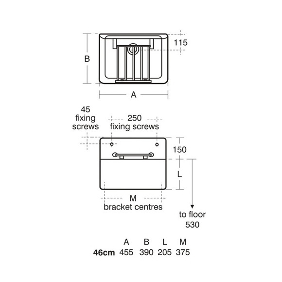 Armitage Shanks | S591501 | Birch Sink| Technical Drawing