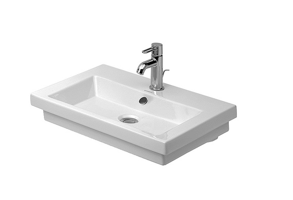 Duravit 2nd Floor 049160 600 x 430mm 1 Tap Hole Countertop Basin