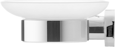 Duravit 009917 D-Code Frosted Glass Soap Dish Glass Shelf Left Chrome