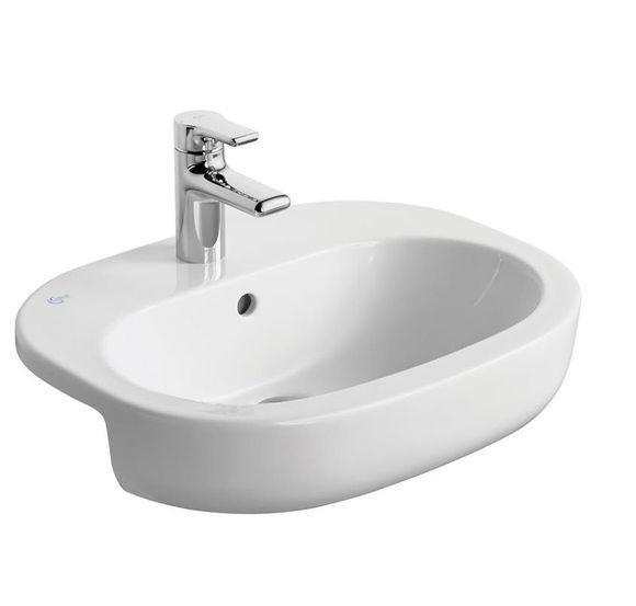 Ideal Standard Softmood T055301 550x440 1 Tap Hole Semi-Countertop Basin