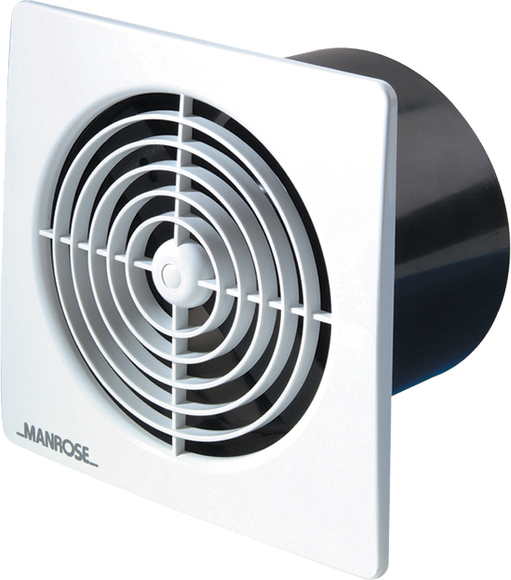Manrose LP100SSCB Lo Profile Standard Model Fan White