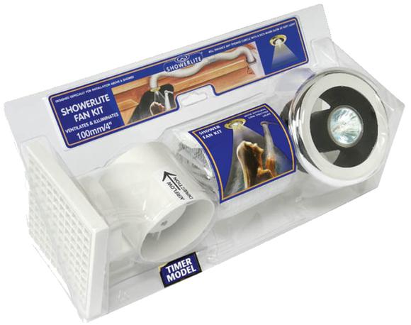 Manrose SLKTC Showerlite Kit Timer Chrome