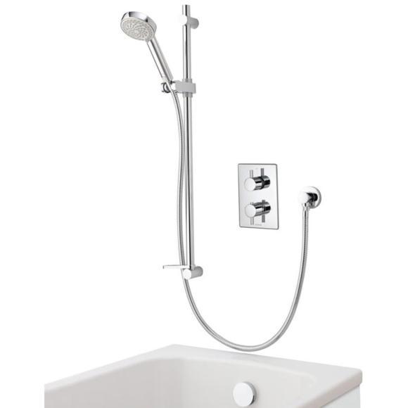 Aqualisa Dream DRMDCV004 Dual Control Valve Divert Mixer Shower With Adjustable Head & Bath Overflow Filler