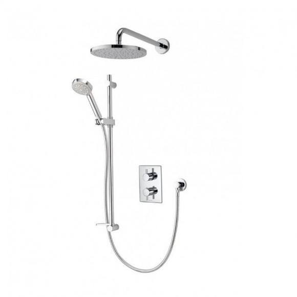 Aqualisa Dream DRMDCV003 Dual Control Valve Divert Mixer Shower With Adjustable & Wall Fixed Drencher Heads