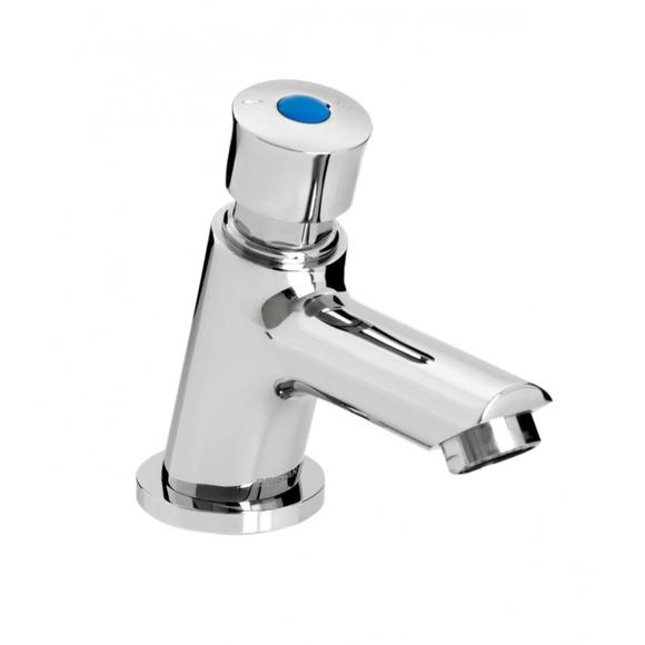 Bristan Z2 LUX 1/2 C Single Luxury Timed Basin Tap Soft Touch Chrome
