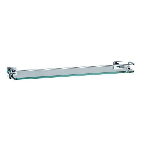 Crosswater Zeya ZE030C Glass shelf with rail 500mm